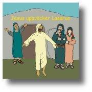 Minibok Jesus uppväcker Lasarus